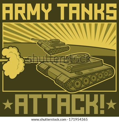 military tanks poster  tanks in