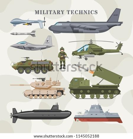 military technics vector army