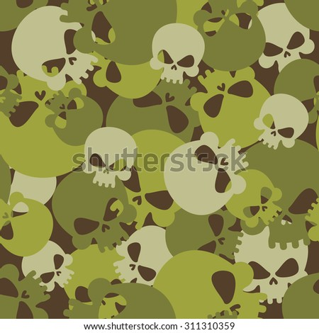 military texture of skulls