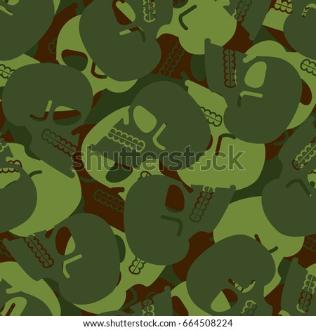 military texture skull army