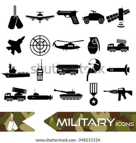 military theme simple black