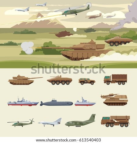 military transport concept with