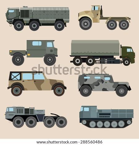 military transportation vector