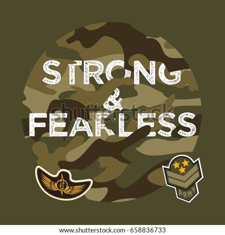 military typography slogan