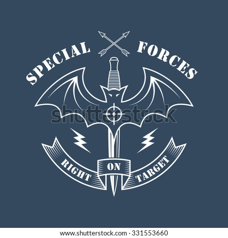 military vector emblem with a