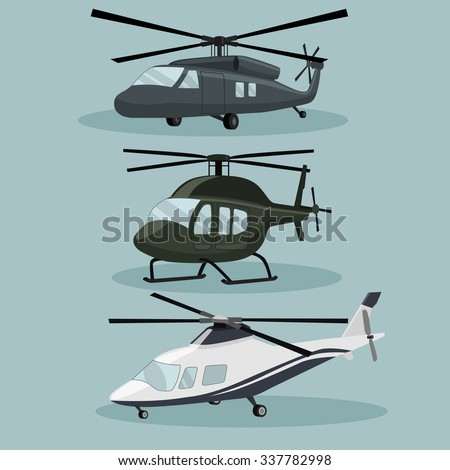 military vector helicopters