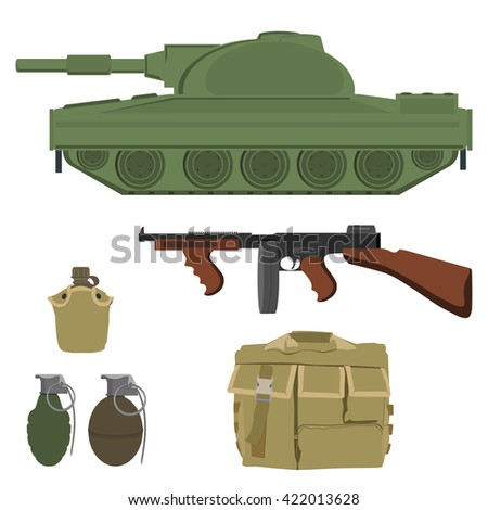 military vector icon set