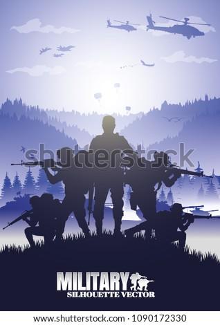 military vector illustration