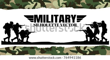 military vector illustration
