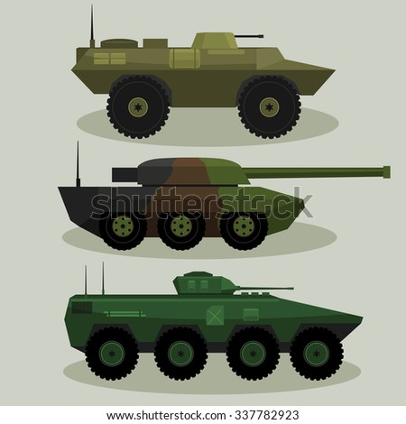 military vector tanks and