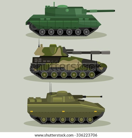 military vector tanks image