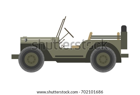 military vehicle without roof