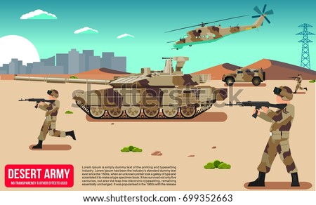 military war modern army in a