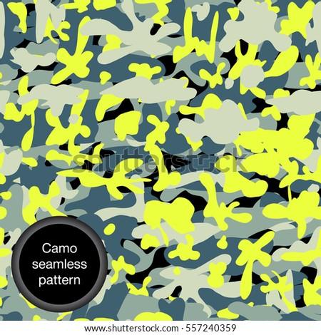 military yellow print
