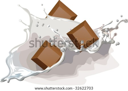 milk and chocolate with splash