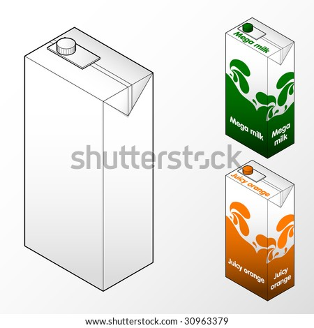 Milk and orange juice cart