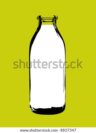Milk Bottle - stock vector