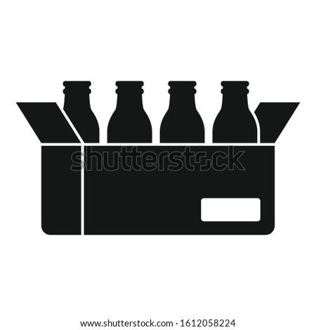 Milk bottle carton box icon. Simple illustration of milk bottle carton box vector icon for web design isolated on white background
