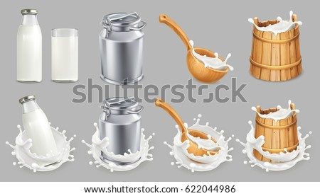 milk can and splash natural