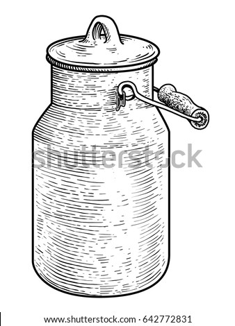 milk can illustration  drawing  ...