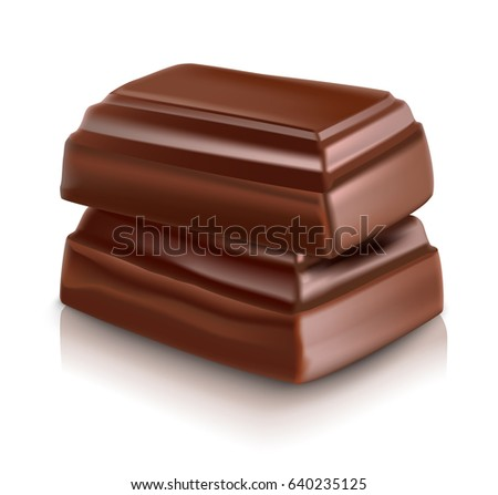 milk chocolate bar vector illustration on white