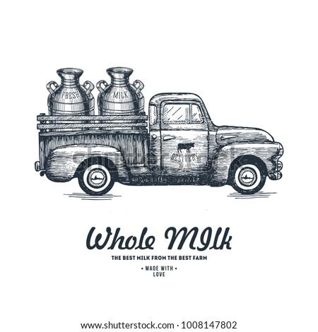milk farm delivery. truck...