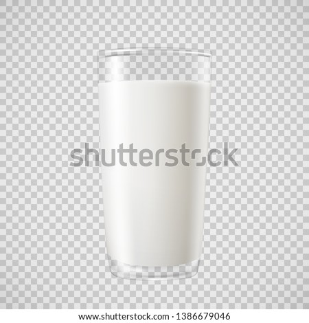 milk in transparent glass  for