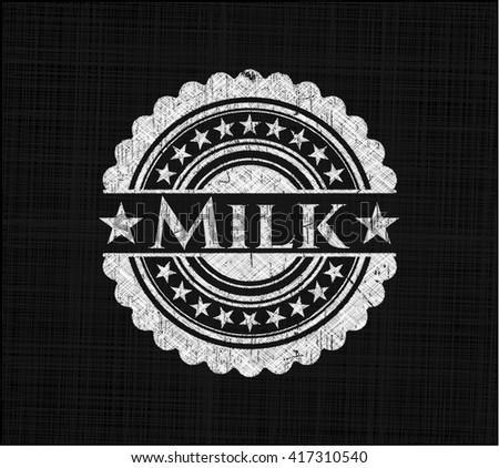 Milk on chalkboard