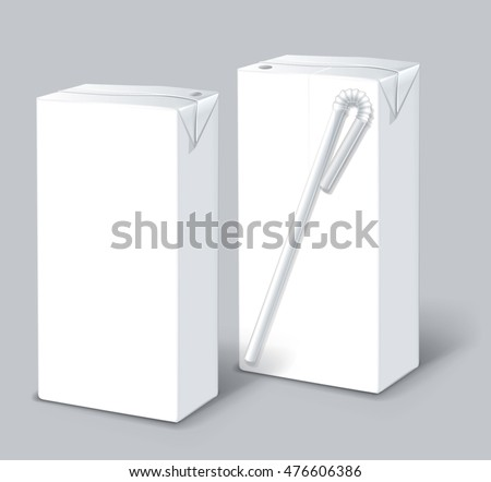 Milk Or Juice Carton Packages Isolated On A Background Clean Empty 02 025