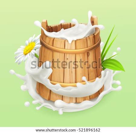 milk rustic style wooden