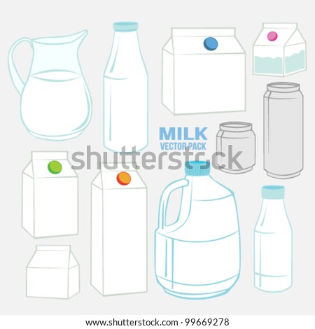 Milk set Vector Pack Collection