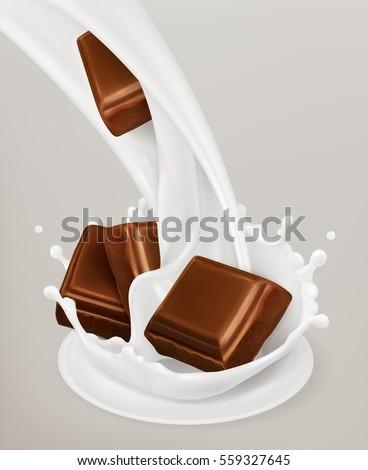 milk splash and chocolate