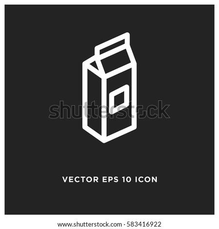 Milk vector icon