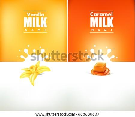 milky splash with vanilla flower and caramel