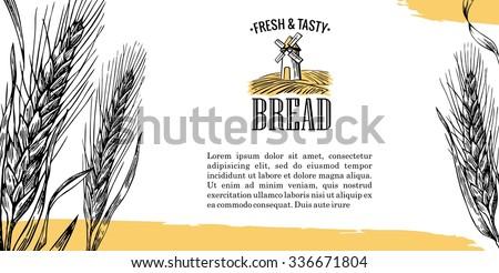 mill  wheat field  ears black