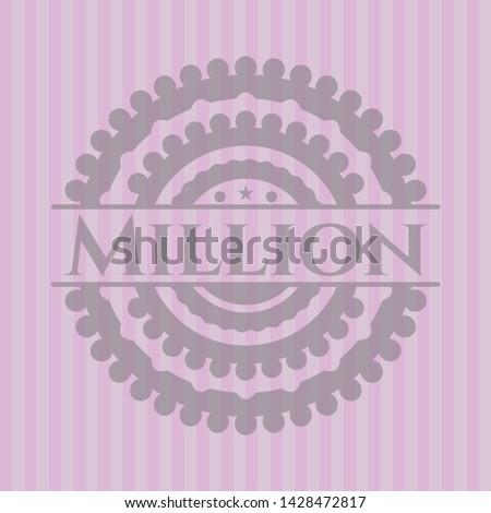 million pink emblem retro