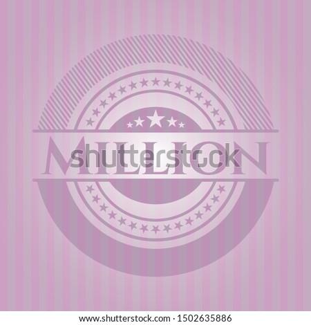 million pink emblem vintage