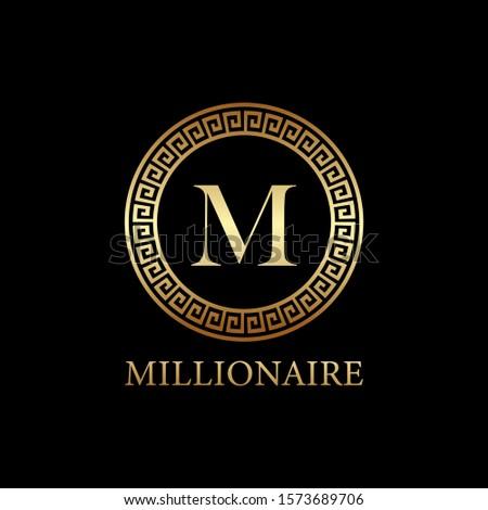 millionaire logo design, icon design template element, lettet m design Stock photo ©
