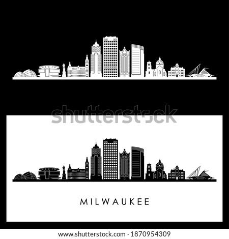 MILWAUKEE City Wisconsin SKYLINE vector