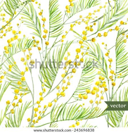 mimosa watercolor  pattern