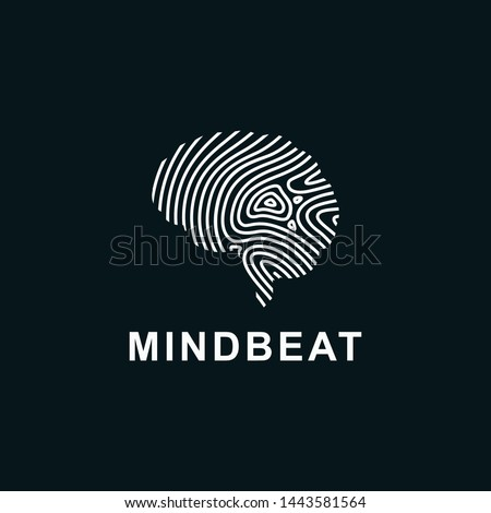 Mind beat logo. This logo incorporate with brain and tech wave in creative way. it will be suitable for tech, beat and brain related company.
