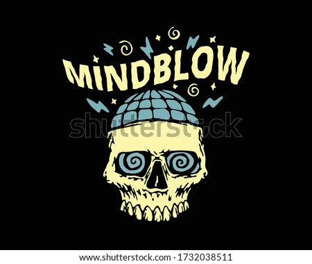 mind blowing skull image vector