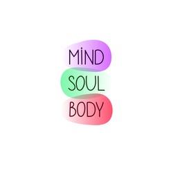 Mind, body and soul balance, zen lifestyle, holistic concept, meditation symbol, vector harmony illustration