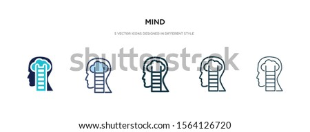 mind icon in different style vector illustration. two colored and black mind vector icons designed in filled, outline, line and stroke style can be used for web, mobile, ui