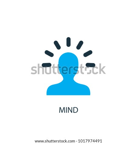 Mind icon. Logo element illustration. Mind symbol design from 2 colored collection. Simple Mind concept. Can be used in web and mobile.