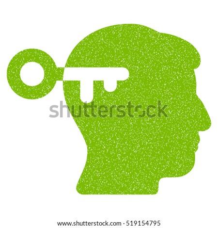 mind key grainy textured icon