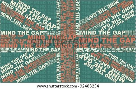 Mind The Gap UK flag