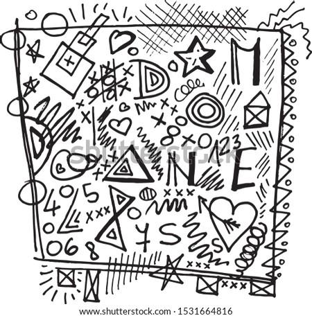 mindless scribbles and doodles letters and numbers