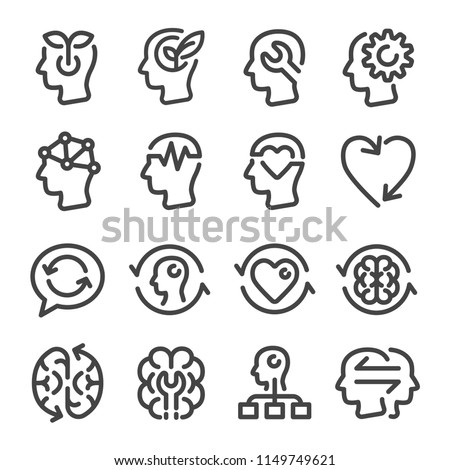 mindset icon set