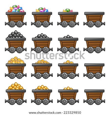 stock-vector-mine-cart-set-gold-sone-coi
